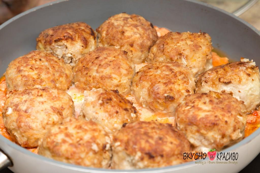Фрикадельки из фарша рецепт с подливкой пошагово на сковороде