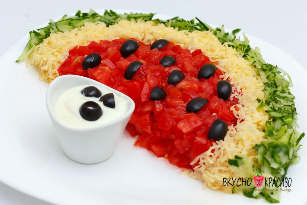 Интересные и вкусные красивые салаты фото