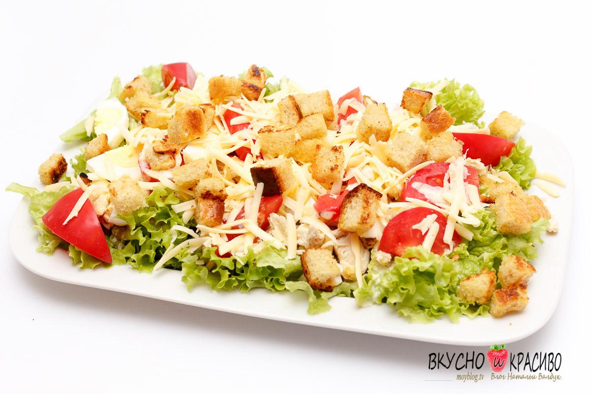 Как сделать сухарики в салат