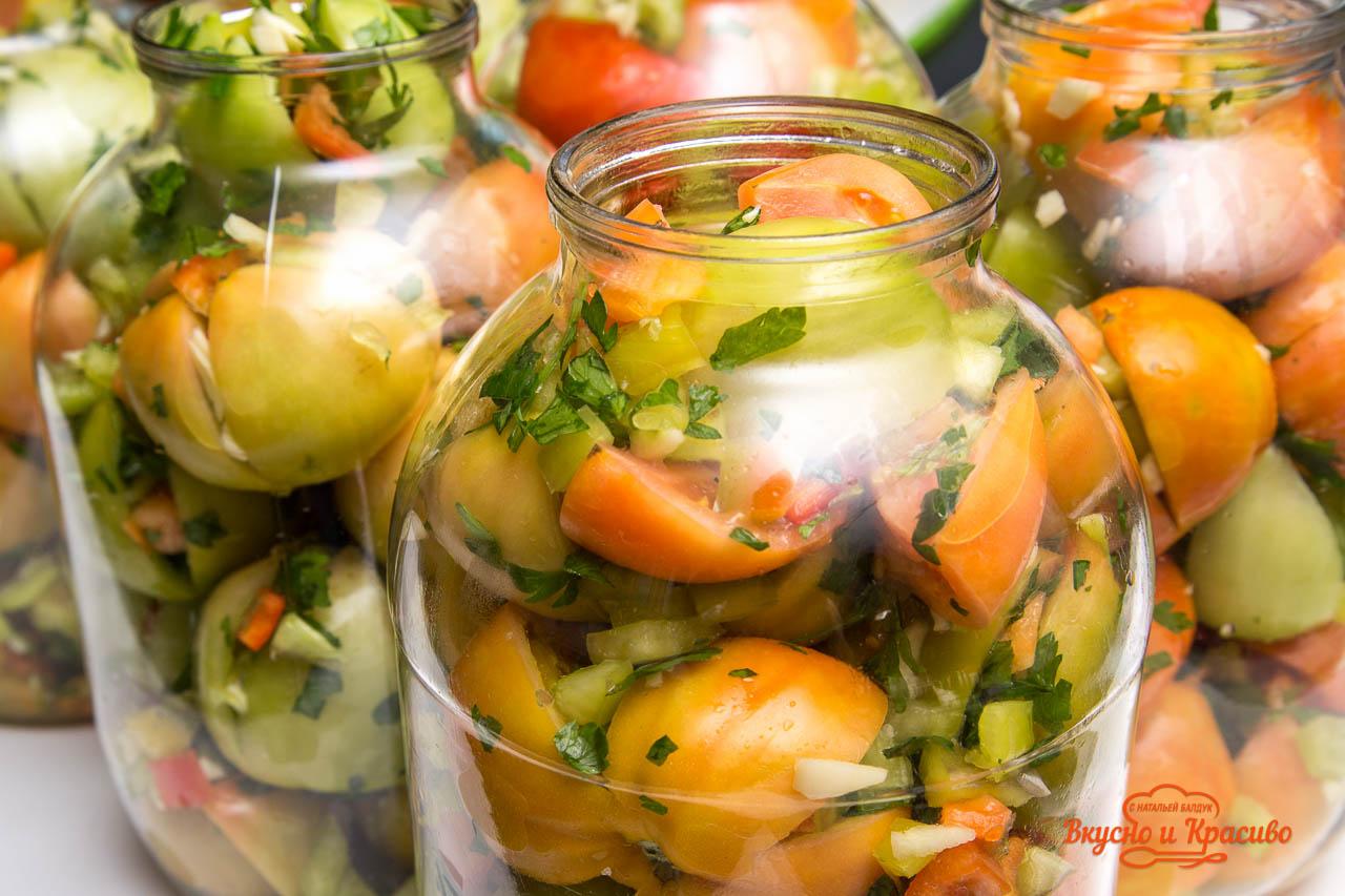 Рецепты зеленых помидор с начинкой на зиму рецепты