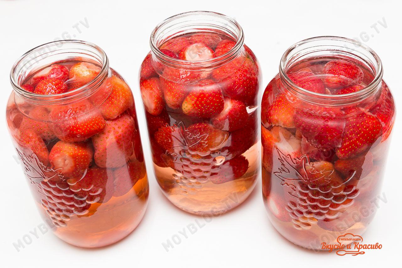 Как варить компот из клубники на зиму, 4 рецепта клубничного 21