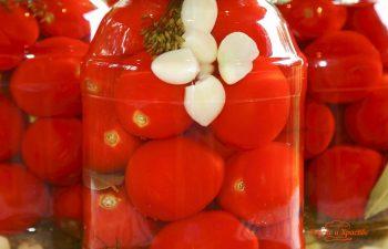 Сладко-кислые томаты. Консервация.